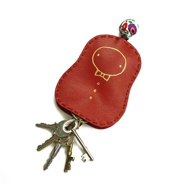 手縫真皮鑰匙圈